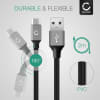 USB Cable for Xbox One Controller - Charging Cable 2m Data Cord 2A Grey PVC Wire Lead