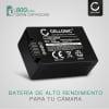 Bateria para camaras Panasonic Lumix DMC-FZ72 DMC-FZ70, DMC-FZ100 DMC-FZ150, DMC-FZ45 DMC-FZ40 DMC-FZ47 DMC-FZ48, DMC-FZ62 DMC-FZ60 - DMW-BMB9E 800mAh Batería de repuesto