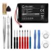 Batterie pour navigateur GPS Garmin Edge 800 / Edge 810 / Edge Touring - 361-00035-00, KE37BE49D0DX3 1000mAh + Set de micro vissage
