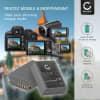 2x Batterie pour appareil photo Olympus OM-D E-M1, OM-D E-M5 (Mark II), Pen E-P5, Pen-F - BLN-1 1140mAh BLN-1 Batterie Remplacement