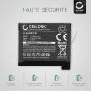 2x Batterie pour appareil photo GoPro Hero4, Hero 4 black edition, Hero 4 silver edition, Hero 4+ (Hero 4 Plus) - AHDBT-401,335-06532-000 1160mAh AHDBT-401 Batterie Remplacement