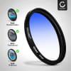 Farbverlauf Filter Blau für Ø 52mm Verlauffilter