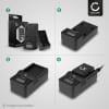 Caricabatteria CELLONIC® per Fuji FinePix F10 FinePix F11 FinePix F401 FinePix F410 FinePix F601 FinePix M603 Caricatore da rete compatto e poco ingombrante