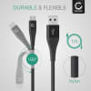 Câble Data pour HTC One A9, A9s, E9, M8, M8 Eye, M8s, M9, X / Desire 530, 630, 10 Pro, 10 Lifestyle - 1m, 2.4A Câble USB, noir