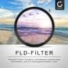 Fluoreszenz Filter FLD für Canon EF 100-400mm f/4.5-5.6L 16-35mm f/2.8L 17-40mm f/4L 20-35mm f/3.5-4.5 (Ø 77mm) FD Filter