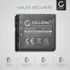 Batterie pour appareil photo Panasonic Lumix DMC-FX01 -FX07 DMC-FX10 -FX100 -FX12 -FX150 -FX180 -FX3, -FX50 -FX8 -FX9 DMC-LX1 -LX2 -LX3 -LX9 DMC-FS2 -FS1 DMC-FC01 - CGA-S005 DMW-BCC12 1150mAh Batterie Remplacement