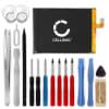 Batterie pour téléphone portableZTE Blade A452 / Blade X3 - 515978, 4000mAh interne neuve + Set de micro vissage, kit de remplacement / rechange