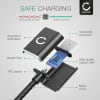 Datacable for Google Nexus 6 / 7 / 9 / 10 / BlackBerry PlayBook / HTC Flyer - 1m, 2.4A USB Data Cable, Black/Silver