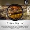 Filtro Stella per Ø 72mm (6 Point) Croce Filtro, Star Filter, Cross Filter