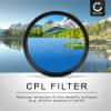 Polfilter CPL für Tokina 35mm 2.8 AT-X Pro DX Macro (Ø 52mm) Zirkularer Polarisationsfilter