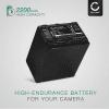 NP-FV90 Batteri för Sony FDR-AX100 -AX100e, FDR-AX33, FDR-AX53, Sony HDR-CX625, HDR-CX450, -CX115 HDR-CX200 -CX220, -CX305, HDR-PJ810, HDR-PJ530e, Sony NEX-VG900, -VG20, Sony DCR-SX34, 2200mAh Kamera-ersättningsbatterimed lång batteritid
