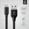 Datakabel til M-Horse Pure 1 / Power 1 / Power 2 / B1000 / B2000 / M1 Super Slim - 2m, 2A USB kabel ladekabel opladerledning, sort