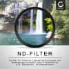 Neutraldichte Filter ND2 für Ø 49mm Graufilter, Langzeitbelichtung