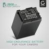 Kamera Batteri til Canon XA10 HG10 HG20 HG21 HF10 HF11 HF20 HF100 FS10 VIXIA HF G20 G10 LEGRIA GX10 HF G25 HF S100 S20 S21 HF M40 M30 M31 M46 HF200 - BP-808 BP-827 2600mAh BP-809 BP-819 Udskiftsningsbatteri til kamera