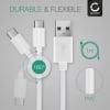 Câble Data pour Fairphone 3 - 1m, 3A Câble USB, blanc