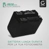 Batteria per Sony DSR-PD150, -PD170, FDR-AX1, DCR-VX2100, GV-D200, HDR-FX7e, -FX1, -FX1000 - NP-F960, NP-F970 (6600mAh) batteria di ricambio