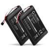 2x Batterie pour navigateur GPS Garmin Edge 800 / Edge 810 / Edge Touring - 361-00035-00, KE37BE49D0DX3 1000mAh