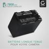 2x Batterie pour appareil photo Canon XF100 XF105 XF200 XF205 XF300 XF305 G-1000 XL1s XL1 XL2 EOS C100 Mark II C300 C500 GL2 GL-1 XM1 XM2 XL-H1 - BP-975 BP-955 BP-925 BP-970 7800mAh Batterie Remplacement