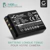 Batterie pour appareil photo Kodak Easyshare DX6490, DX7440, DX7590, DX7630, Easyshare P850, P880, Easyshare Z730, Z7590 - KLIC-5001 1600mAh KLIC-5001 Batterie Remplacement