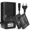 2x Batterie pour appareil photo Sony RX100 III IV V FDR-X3000 DSC-RX100 DSC-HX60 -HX400V -HX90V -HX80 -H400 DSC-WX500 -WX350 HDR-CX405 -CX240 -AS50 -PJ410 - ACC-TRBX 1090mAh + Chargeur Sony NP-BX1 Batterie Remplacement