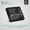 Bateria para camaras Panasonic Lumix DMC-FS7 FS62 FS6 FS30 FS11 FS10 DMC-FT3 FT4 FT1 FT2 DMC-TS4 DMC-FX40 FX48 FX550 - DMW-BCF10E CGA-S106 CGA-S009 940mAh Batería de repuesto