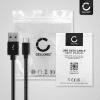 Câble USB pour Canon EOS 1D X III, M6 II, EOS Rp R Ra, PowerShot G5 X II G7 X III - 1m Fil charge data 3A noir cordon Nylon