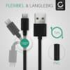USB Kabel für Gigaset QV830 / QV1030 - Ladekabel 1m 2A PVC Datenkabel schwarz
