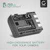 Batteri for Canon EOS 400D EOS 350D EOS Digital Regel XTi PowerShot G7 G9 PowerShot S50 HG10 Legria HF R16 R106 MD235 VIXIA HV30 ZR800 - NB-2L NB-2LH BP-2L5 700mAh Reservebatteri