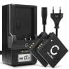 2x Batterie pour appareil photo Canon PowerShot S120 PowerShot SX510 HS SX700 HS SX280 - NB-6L,NB-6LH 1000mAh + Chargeur CB-2LY Batterie Remplacement