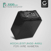 Akku für Sony HDR-CX625, HDR-CX730 HDR-CX250, FDR-AX53 -AX33 -AX100, HDR-PJ810 - NP-FV100 (3300mAh) Ersatzakku