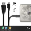 Câble USB pour Typhoon MyGuide 3210 GO / 3210 GO / 3220 GO / 3230 GO / 3600 / 3600 GO / 3610 - 1m Fil charge data 1A noir cordon PVC
