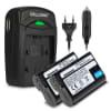 2x Batteria per Nikon D7200 D7000 1 V1 D800 D800E D600 D7100, Nikon Z 6 Z 7 - EN-EL15 1900mAh incl. Caricabatteria MH-25 batteria di ricambio
