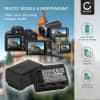 2x Batterie pour appareil photo Panasonic HC-V180 -V10 -V100 -V160 -V270 -V380 -V500 -V777 -V800 HC-VXF990 HC-VX980 HC-W580 HDC-SD40 -SD60 SDR-H80 - VW-VBT190 1780mAh Batterie Remplacement