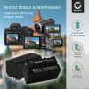 2x Batterie pour appareil photo Sony HXR-NX100 -NX5, HXR-MC2500, HDR-FX7 -FX1 -FX1000, HVR-Z1, HVR-HD1000, DSR-PD150 -PD170p, DCR-VX2100, NEX-ES50M, -FS700M GV-D200, Sony Cyber-Shot - NP-F930 NP-F950 NP-F960 NP-F970 XL-B2 XL-B3 4400mAh + Chargeur BC-VM50 Batterie Remplacement