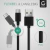 USB Cable for Fuji FujiFilm X-T3 FujiFilm X-T30 FujiFilm GFX 50R GFX100 - Charging Cable 1m Data Cord 3A Black PVC Wire Lead