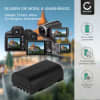 D-Li90 Battery for Pentax 645D, 645Z, K-01, K-1, K-3, K-3 II, K-5, K-5 II, K-5 IIs, K-7 1250mAh Digital Camera Battery Replacement Spare Battery Backup Power Pack