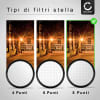 Filtro Stella per Ø 62mm (8 Point) Croce Filtro, Star Filter, Cross Filter