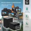 2x Batterie pour appareil photo Canon LEGRIA HF R806 R86 HF R706 HF R606 HF R506 HF R406 R46 R306 R36 M56 M506 VIXIA HF R500 R52 R50 HF R400 R40 R300 HF M500 - BP-745 BP-727 4450mAh BP-709 BP-718 Batterie Remplacement