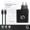 USB Charger 24W for Smartphones, Tablets and Ultrabook Laptops Quick Charge 3.0 1-Port 3a Ampere (max.) 12V