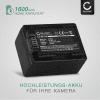 2x Kamera Akku für Canon LEGRIA HF R806 R86 HF R706 HF R606 HF R506 HF R406 HF R306 R36 VIXIA HF R500 HF R52 R50 HF R400 R40 HF R300 HF M500 - BP-718 BP-727 Ersatzakku 1600mAh , Batterie