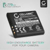 Batteri för Ricoh CX3 CX4 CX5 CX6, Ricoh GR Digital III, Ricoh HZ15, Ricoh PX, Ricoh Theta V - 37838 D-LI92 DB-100 LB-050 770mAh
