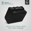 Kamera Akku für Sony DSR-PD150 PD170 FDR-AX1 DCR-VX2100 GV-D200 HDR-FX7e FX1 FX1000 - NP-F970 -F96 NP-F550 -F570 -F750 -F770 -F330 Ersatzakku 6600mAh , Batterie