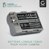 2x Batterie pour appareil photo Nikon D50 D70s D80 D90 D200 D300 D300S - EN-EL3 EN-EL3e 1600mAh Batterie Remplacement