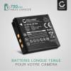 Batterie pour appareil photo Fujifilm Fuji X10 X20 XF1 XP200 XP150 XP100 SQ10 Instax Share SP-3 F100ER F550EXR - NP-50 NP-50A 750mAh Batterie Remplacement