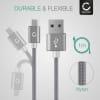 Câble Data pour LG G8 ThinQ, G7, G7 ThinQ, G6, G5 / V40 ThinQ, V35 ThinQ, V30 / K61s, K51s, K41s - 1m, 3A Câble USB, gris