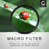4x Close-Up Makro Filter für Canon EF-M 11-22mm 4-5.6 IS STM (Ø 55mm) Nahlinsen Set