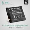 Batería para Canon PowerShot A2200, PowerShot A3000 IS, 3100 IS, 3150 IS, 3200 IS, 3300 IS, 3350 IS - NB-8L (700mAh) Batería de Reemplazo