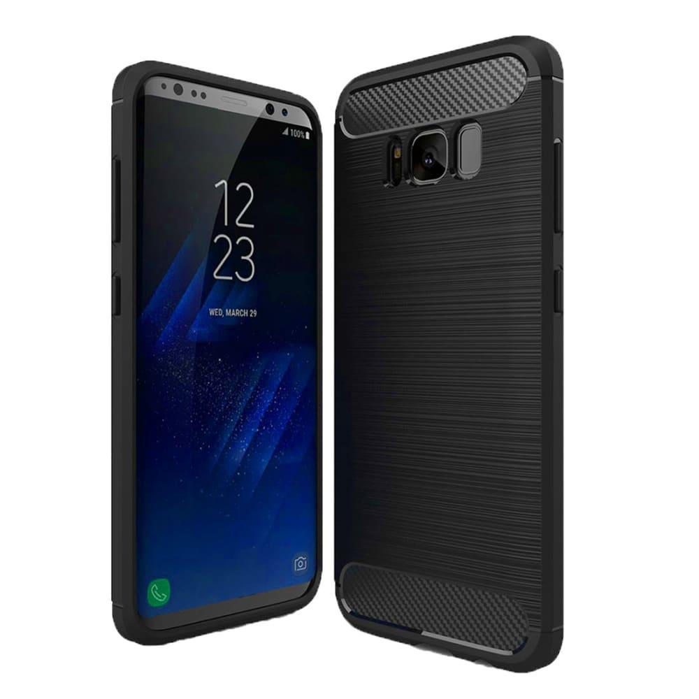 Backcover pour Samsung Galaxy S8 Plus (SM-G955) - TPU, noir Etui,Housse, Coque, Pochette