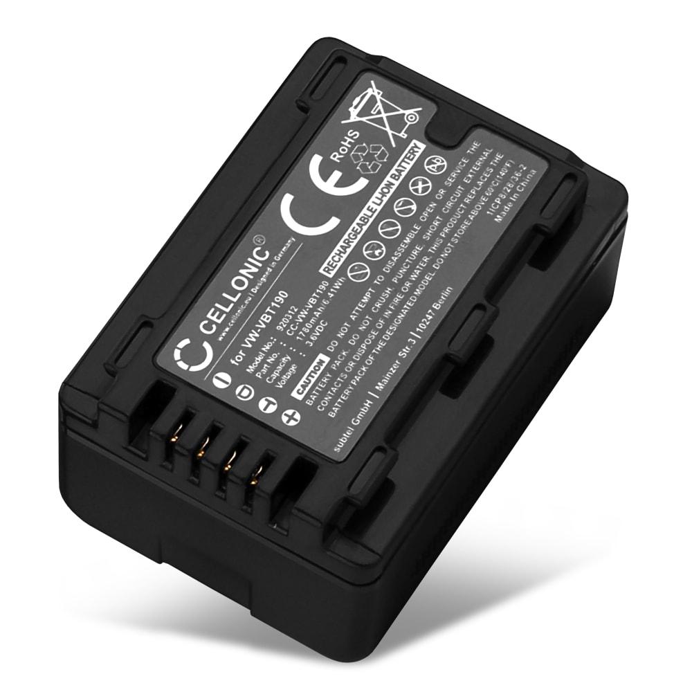 Batterie pour appareil photo Panasonic HC-V180 -V10 -V100 -V160 -V270 -V380 -V500 -V777 -V800 HC-VXF990 HC-VX980 HC-W580 HDC-SD40 -SD60 SDR-H80 - VW-VBT190 VW-VKB180 -VBY100 1780mAh Batterie Remplacement