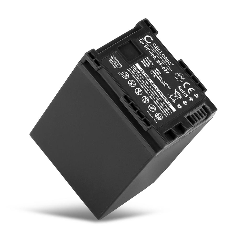 Batterij voor Canon Legria HF G25, HF M41, HF11, HF200, HG10, HG20, HG21, HF G10, HF S100, HF M306 - BP-808,BP-827 (2600mAh) vervangende accu